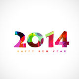 Colorful happy new year. Abstract colorful 2014 happy new year  design Stock Photo