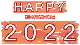 Colorful happy new year 2022 background royalty free stock photos