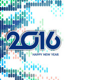 Colorful happy new year 2016 background Stock Photo