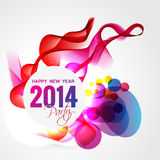 Colorful happy new year. Beautiful colorful happy new year design illustration stock illustration