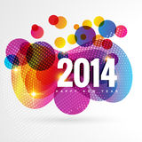 Colorful happy new year. Stylish colorful vector happy new year design royalty free illustration
