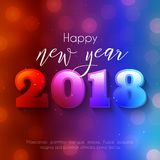 Colorful Happy New Year 2018 text design. Colorful Happy New Year text design. Vector greeting illustration with 2018 numbers Royalty Free Stock Images
