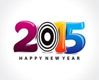Colorful happy new year 2015 text. Vector illustration Stock Photo