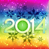 Colorful happy new year Stock Photos