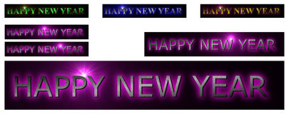 Colorful happy new year. Happy new year wish verity color royalty free illustration