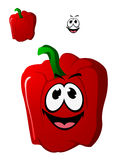 Colorful happy red sweet bell pepper vegetable Royalty Free Stock Photos