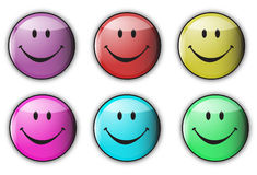 Colorful happy smiley Royalty Free Stock Photos