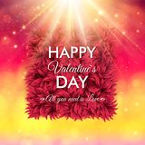 Colorful Happy Valentines Day vector card design Royalty Free Stock Photos