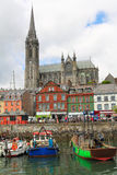 Colorful harbour of Cobh Royalty Free Stock Photo