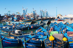 Colorful harbour of Essaouira, Morocco Royalty Free Stock Photo