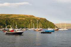 Portree harbour, scotland Stock Photography