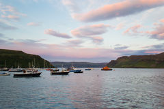 Portree harbour, scotland Royalty Free Stock Photos