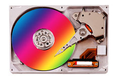 Colorful hard drive Stock Photos