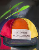 Colorful hat with propeller Stock Image