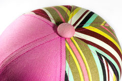 Colorful hat rode. Of women Stock Photography