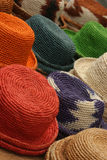 Colorful hats. In a marketplace Royalty Free Stock Image