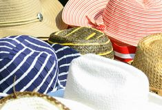 Colorful hats background royalty free stock image