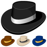 Colorful Hats for Men. Collection of four colorful hats for men, isolated on white background. Eps file available vector illustration