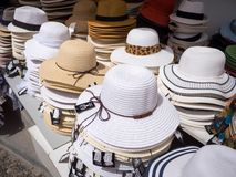 Colorful hats stacked Royalty Free Stock Photography