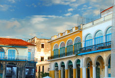 Colorful Havana buildings Royalty Free Stock Photo