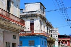 Colorful Havana Neighborhood Balcony Scene Stock Photos