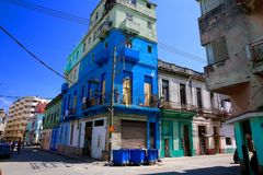 Colorful Havana Neighborhood Stock Images