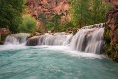 Colorful Havasu Falls. The amazing color of this water at Havasu Falls, Arizona stock image