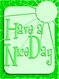 Colorful have a nice day greeting card Stock Image