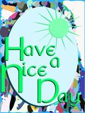 Colorful have a nice day greeting card Stock Photos