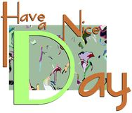 Colorful have a nice day greeting card Stock Images