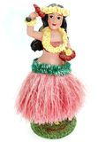 Colorful Hawaiian doll. Against a white background Stock Photos