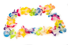 Colorful Hawaiian Flower Necklace Stock Photos