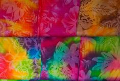 Colorful Hawaiian tropical fabric stock photography