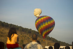 Colorful and Head balloons rises Stock Image