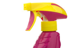 Colorful head of a detergent spray bottle Stock Photography