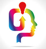 Colorful head Royalty Free Stock Images