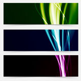 Colorful header collection speed futuristic line pattern Stock Images