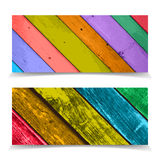 Colorful Header Design with Abstract Wooden Pla Stock Images
