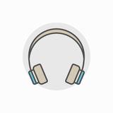 Colorful headphone icon Stock Images