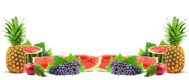 Colorful healthy fresh fruit Stock Photos