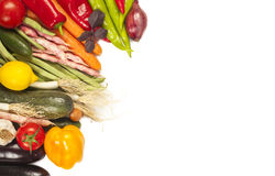Colorful healthy fresh vegetables on white Stock Photo