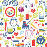 Colorful Healthy Lifestyle Themed Graphics Stock Photos