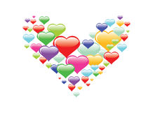Colorful heart Stock Image