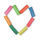 Colorful Heart. A frame made from plasticine valentines day Royalty Free Stock Photo