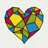 Colorful heart. Rnsketch stain glass style Royalty Free Stock Images