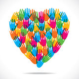 Colorful heart Stock Images