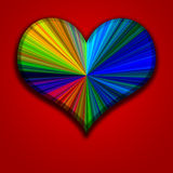 Colorful Heart. Beautiful colorful beveled heart image vector illustration