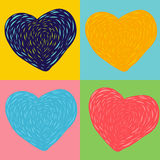 Colorful heart art Royalty Free Stock Image