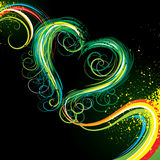 Colorful heart background Royalty Free Stock Image