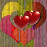 Colorful heart background Royalty Free Stock Photos